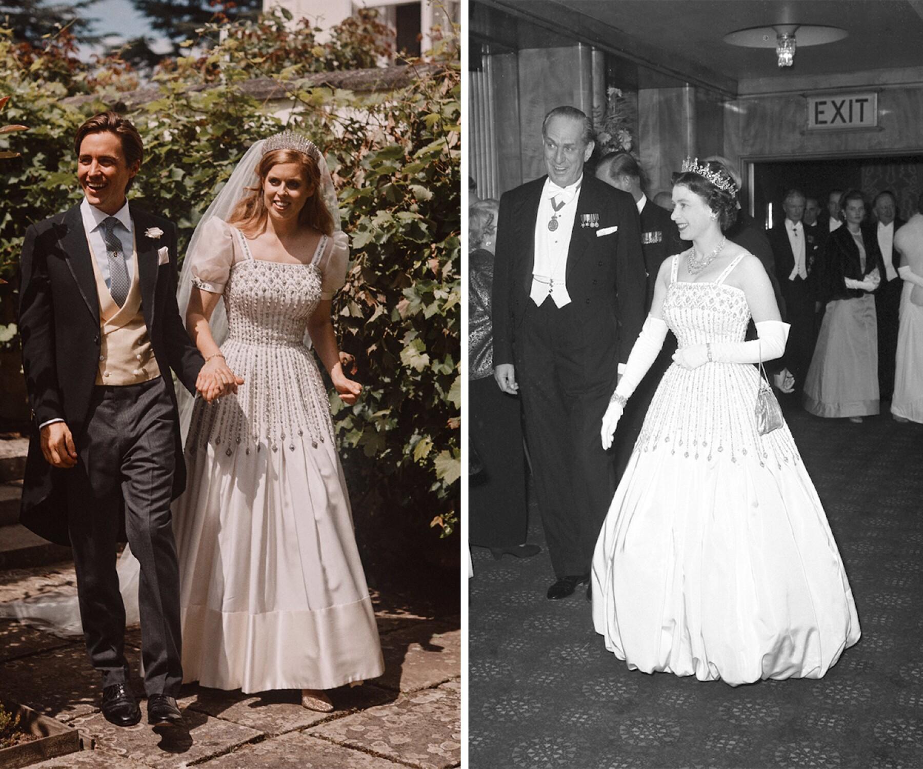 La Historia Del Vestido Que La Princesa Beatriz Usó En Su Boda Y Que Perteneció A La Reina Isabel