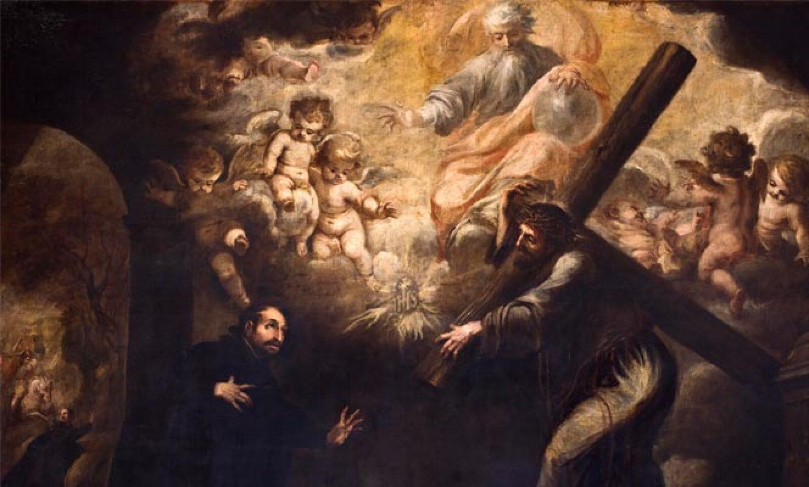 Autor: Juan Valdés de Leal (1622-1690). Material: Óleo sobre tela. Tamaño: 268 x 369 cm. Origen: Parroquia de San Pedro, Lima Perú. Obra restaurada por Fomento Cultural Banamex.