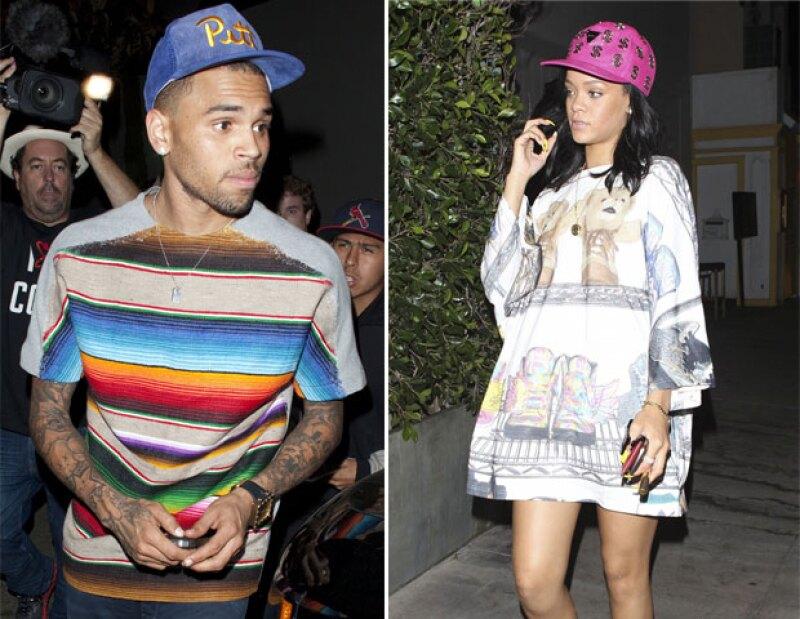 La cantante y su ex novio se reunieron el fin de semana pasado para ver un partido de baloncesto, junto a la familia de la cantante de Barbados en Nueva York.