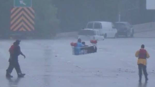 Los espectaculares rescates que se dieron tras la devastación de Harvey