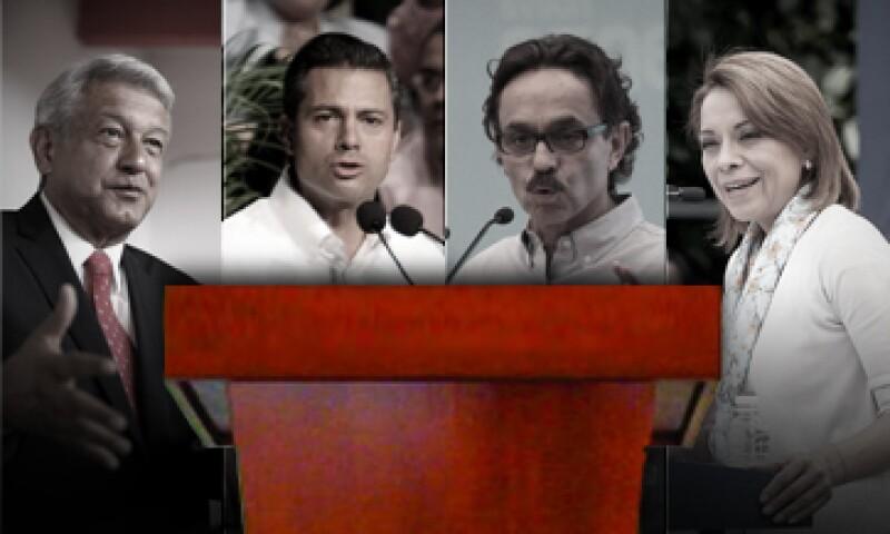 Los presidenciables tratarán de conquistar el voto de los ciudadanos en el primer debate oficial. (Foto: Especial)