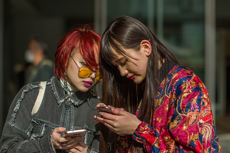 Street Style, Day 5, Autumn Winter 2017, Tokyo Fashion Week, Japan - 24 Mar 2017