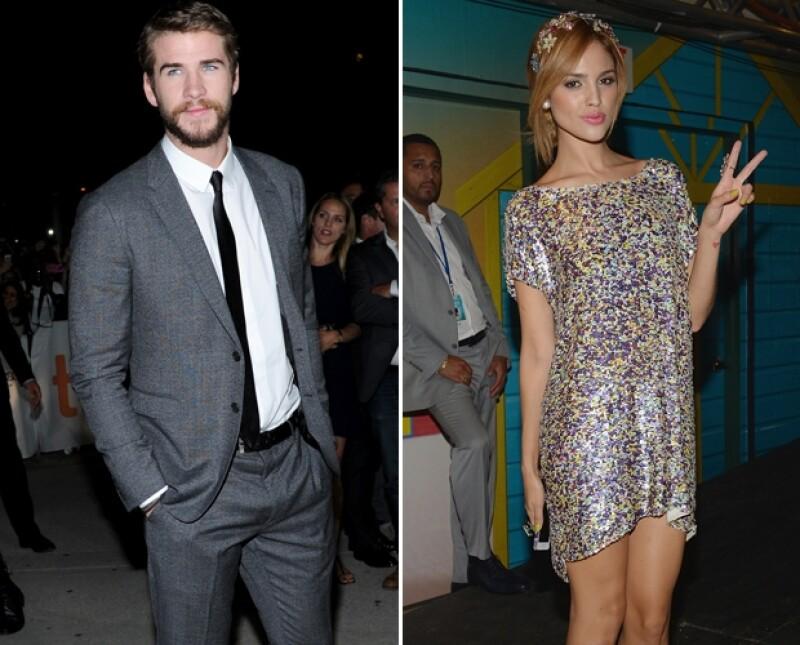 En medio de la noticia del fin del compromiso entre Miley y Liam, Daily Mail dio a conocer imágenes del actor y Eiza en un club de Las Vegas.