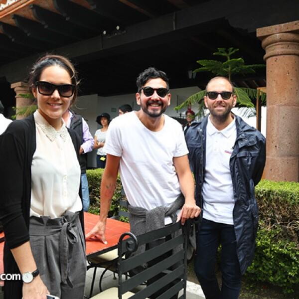 Renato López,Luis Salcedo y Víctor Manuel Romero