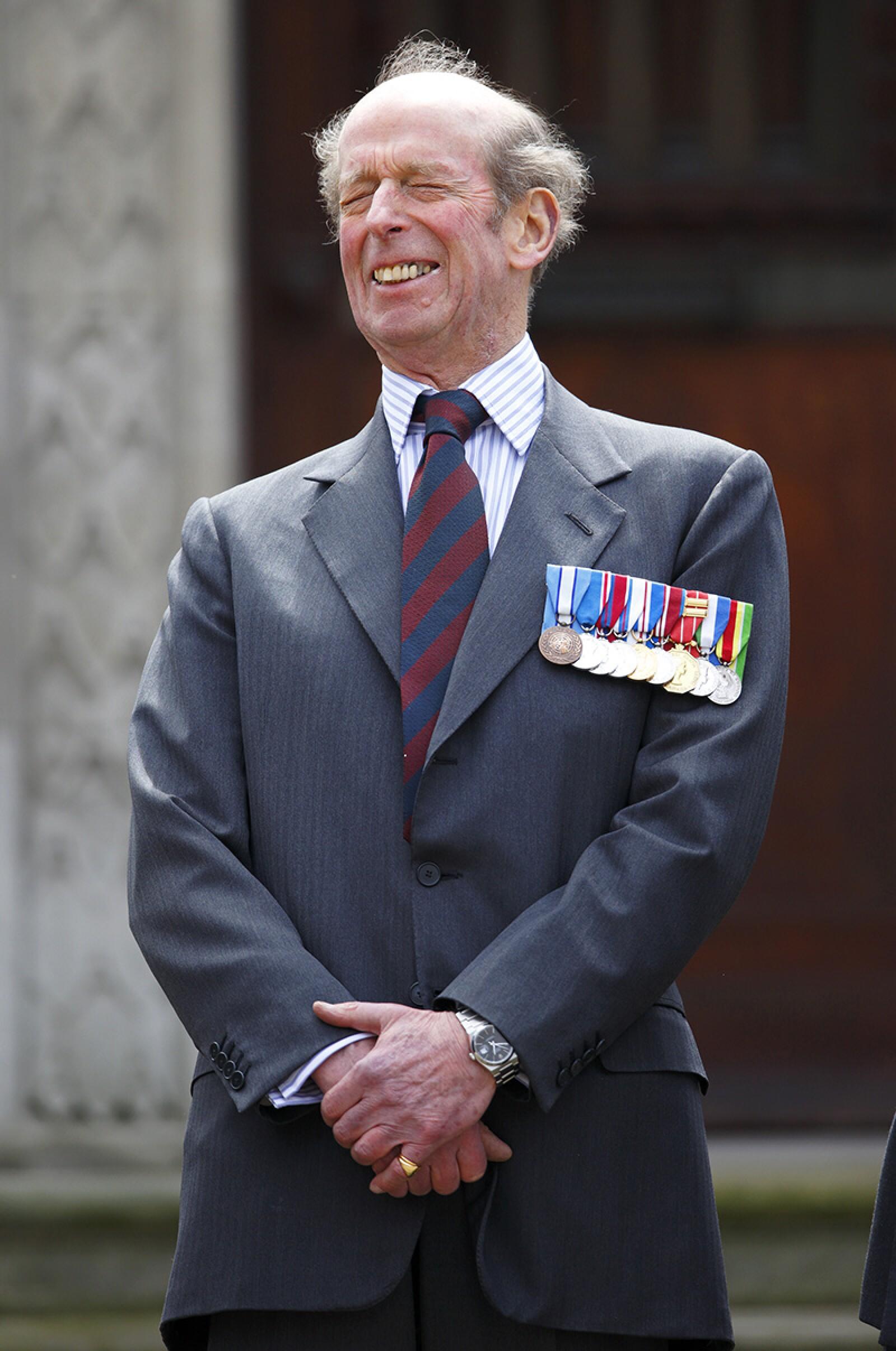 Duke of Kent Attends Scots Guards Regimental Remembrance Sunday Service