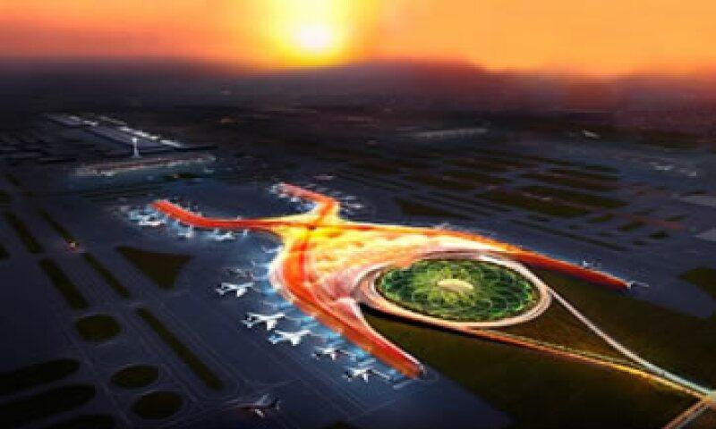 El diseño del aeropuerto fue realizado por el arquitecto británico Norman Foster y el yerno de Slim, Fernando Romero. (Foto: Tomada de presidencia.gob.mx)