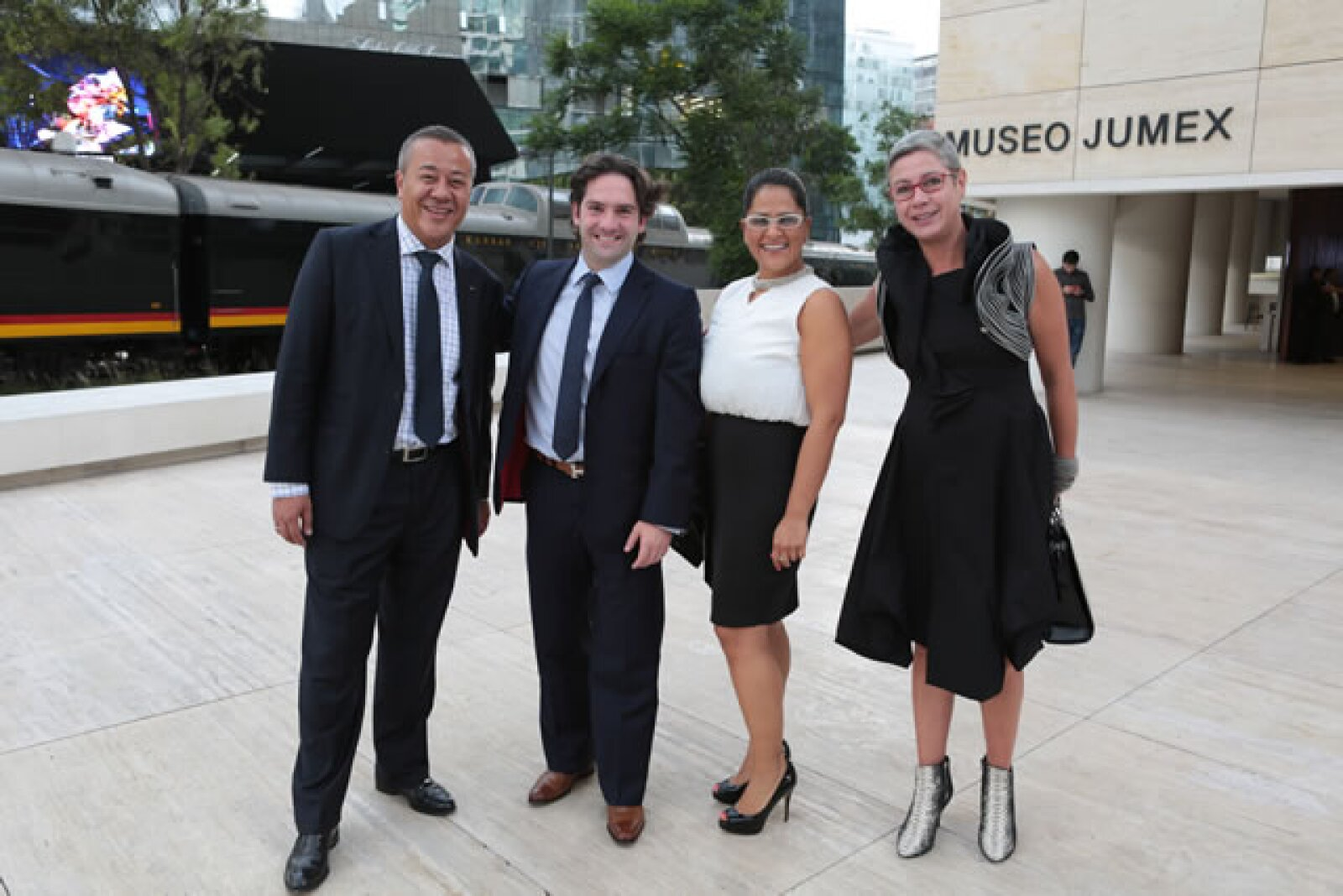 Patrick Fon, Gerardo Fonse, Lucia Alvarez y Christiane Fisher.
