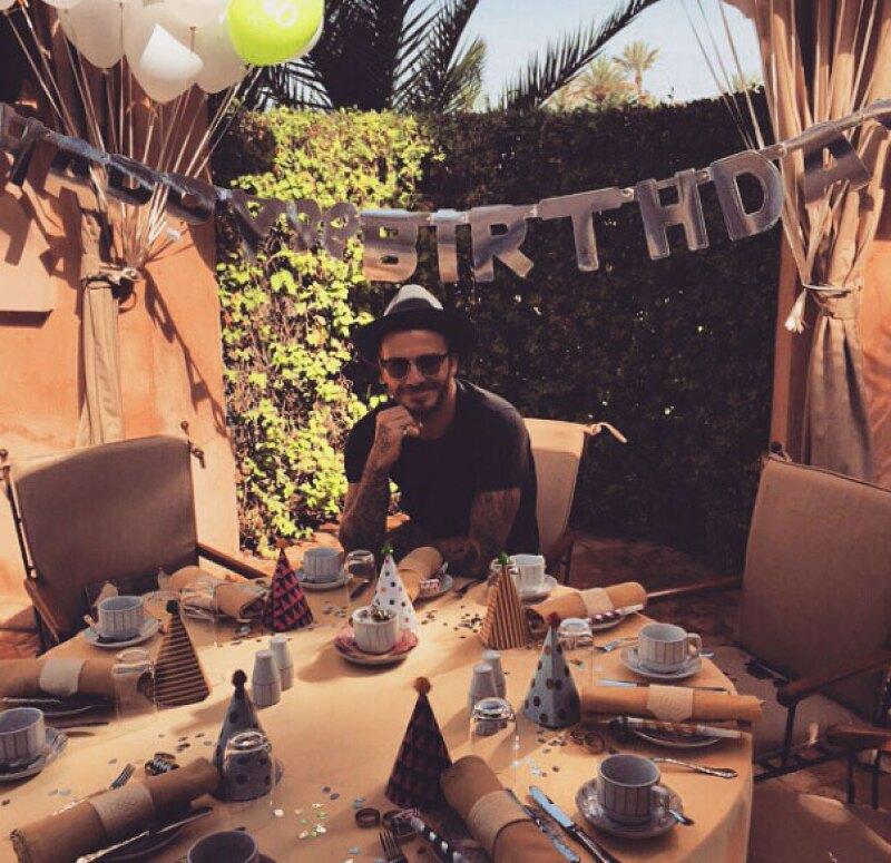 David se encuentra en Marrakech celebrando su cumpleaños.