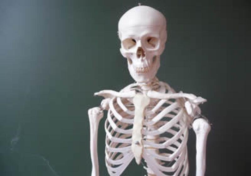La osamenta humana se compone de 208 huesos.  (Foto: Especial)