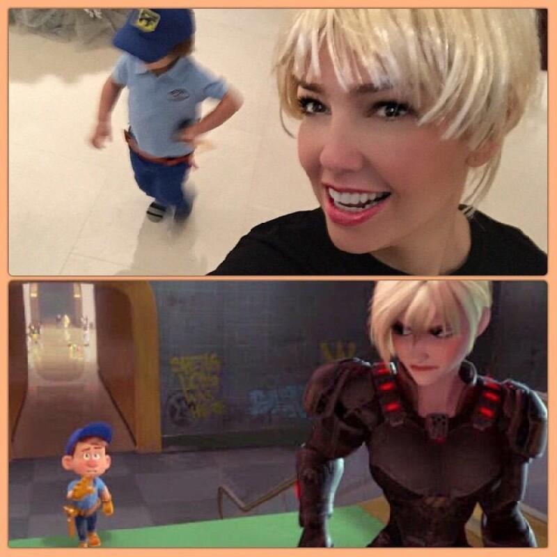 Thalía publicó la foto en donde tanto ella como Matti se ven iguales a los personajes de Ralph el Demoledor.