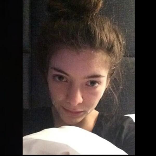 La cantante Lorde difundió recientemente un ?selfie? sin maquillaje en su Instagram con el pie de foto que decía