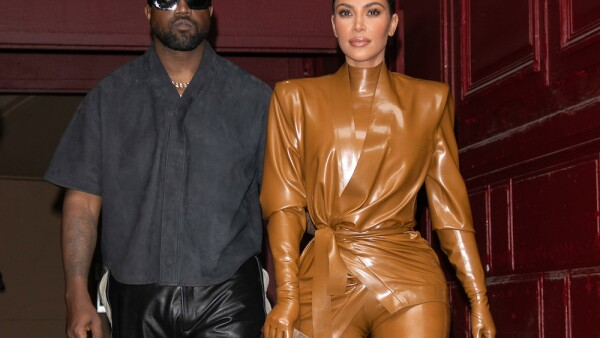 Kanye West & Kim Kardashian Leave K.West's Sunday Service At Theatre Des Bouffes Du Nord - Paris Fashion Week Womenswear Fall/Winter 2020/2021