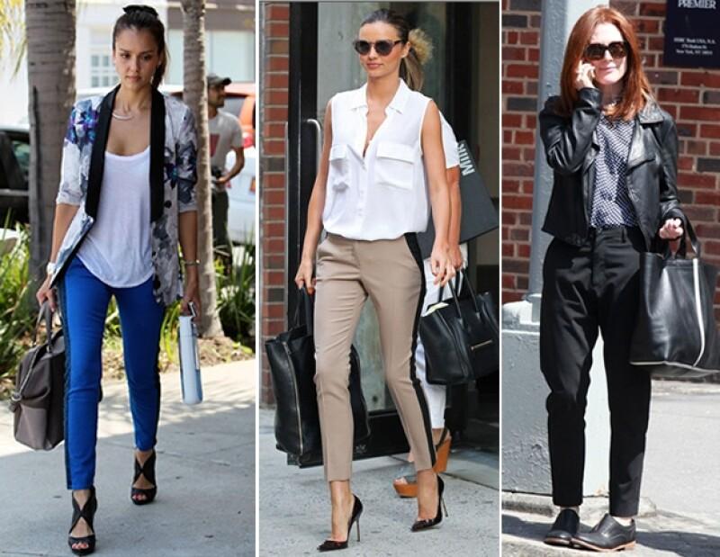 Jessica Alba, Miranda Kerr y Julianne Moore en diferentes estilos los llevan de manera espectacular.