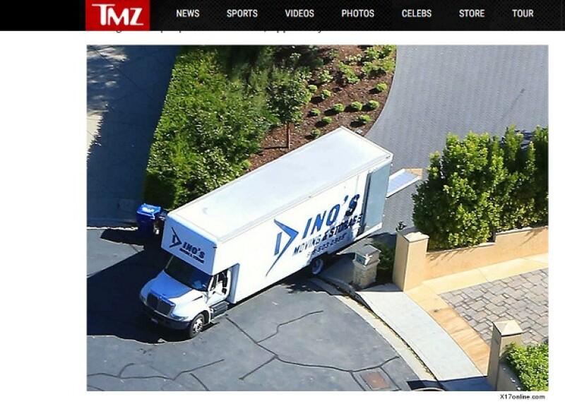 Un camión de mudanzas fue visto el jueves pasado.