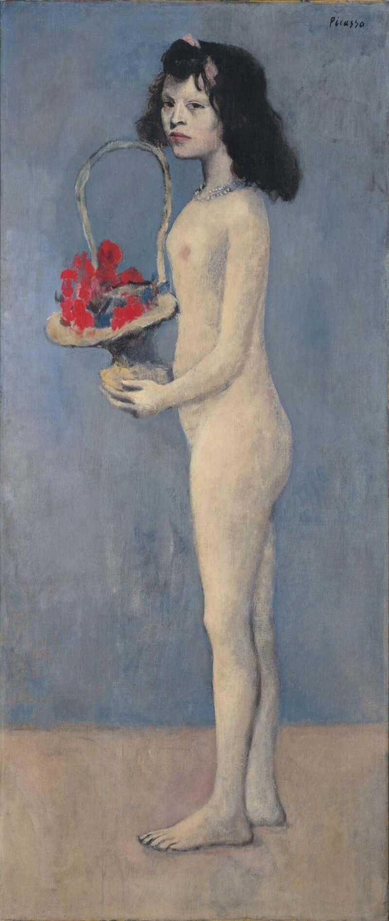 Fillette à la corbeille fleurie (1905), de Pablo Picasso