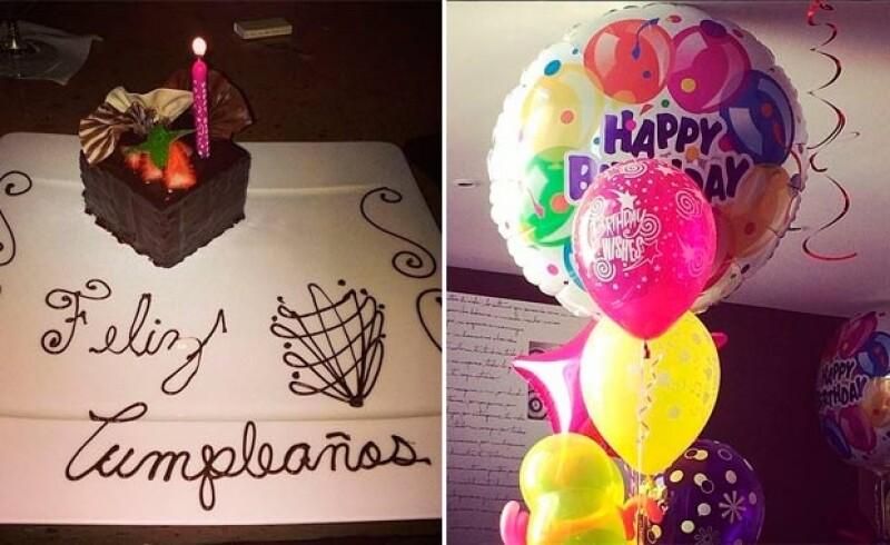 La actriz compartió estas fotografías de su festejo.