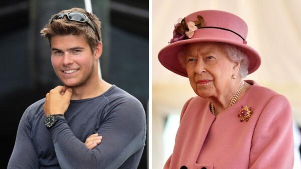 Arthur Chatto y la reina Isabel II