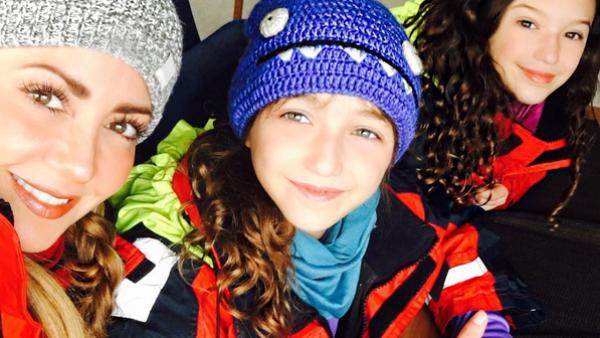 Andrea Legarreta y su viaje a Islandia junto a sus hijas, Mía y Nina