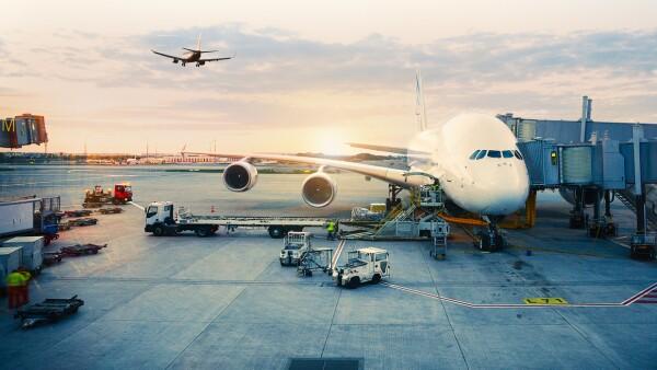 Airplane parked at paris International Airport