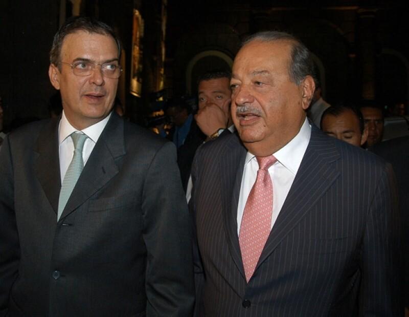 El Jefe de Gobierno charló con el empresario Carlos Slim.