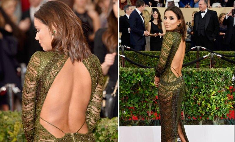 El vestido de Eva es obra de la diseñadora Julien Macdonald.