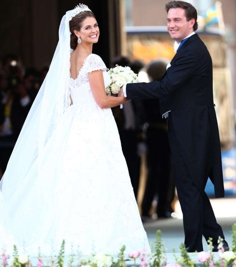 el análisis del vestido de novia de magdalena de suecia