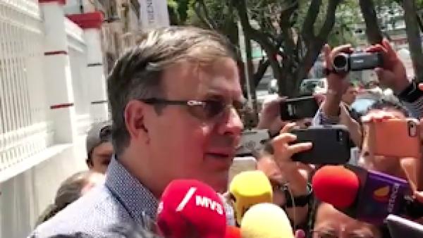 Marcelo Ebrard manifiesta su optimismo por el proceso electoral