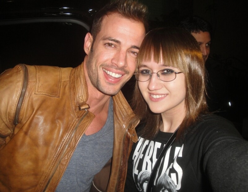 Aquí con William Levy.