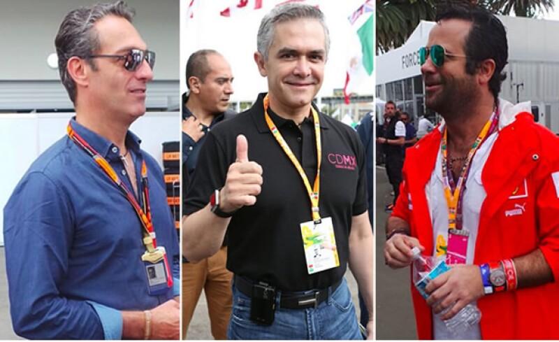 Carlos Slim, Alejandro Soberón, Carlos y Bobby Slim, Martín Fuentes y más se dieron cita en el Autódromo Hermanos Rodríguez para presenciar la última sesión de práctica de los pilotos de la F1.