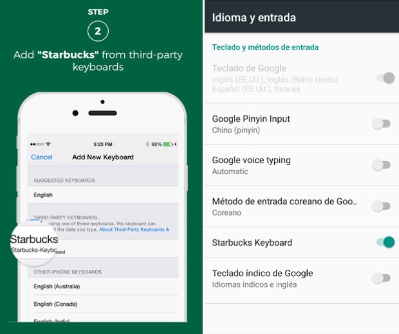En el caso de iOS es buscarlo, mientras que en Android te aparece en automático y solo lo activas.