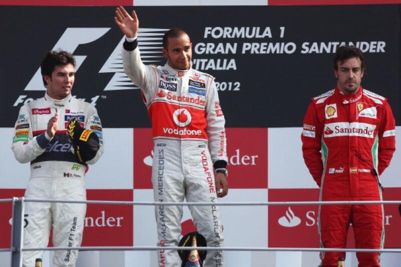 podios checo perez italia 2012