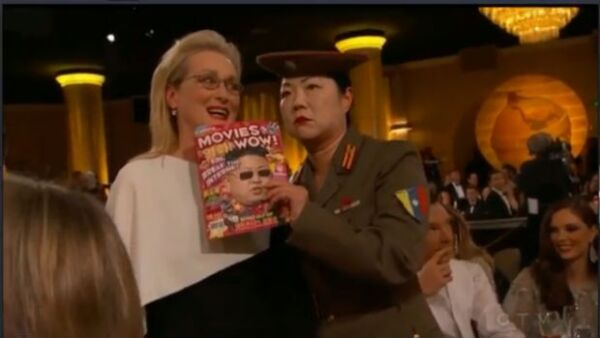 Tina Fey y Amy Poehler no perdonaron el tema de Corea del Norte en los Golden Globes y aprovecharon para explotar al máximo el tema y utilizarlo como una de las bromas de la noche.
