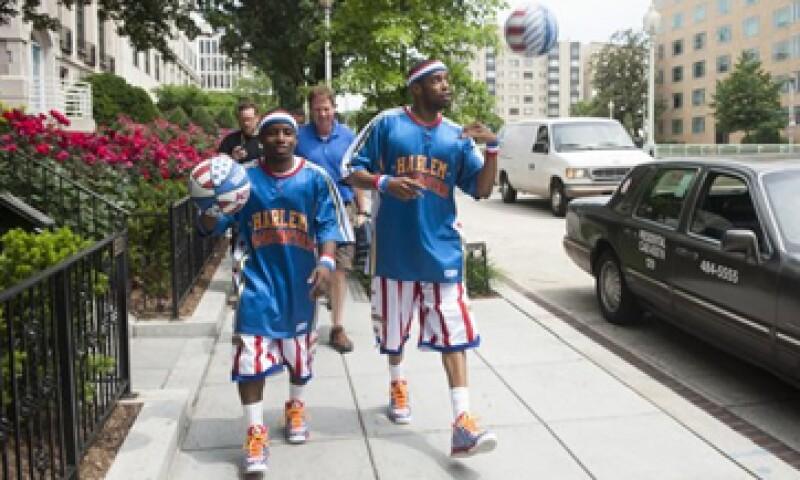 Los Globetrotters son famosos por los espectáculos de básquetbol que realizan en todo el mundo (Foto: AP)