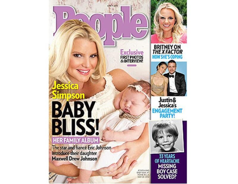 La cantante junto a su bebé Maxwell son la portada de esta semana de la revista People. Estas son las primeras fotos de la primogénita.
