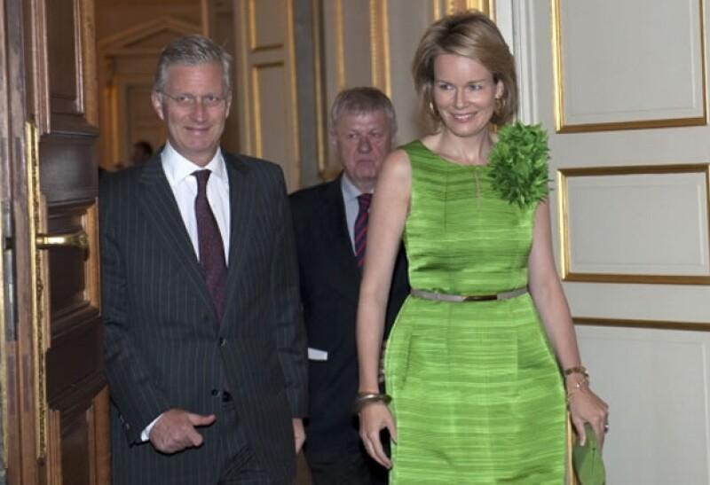 Los futuros monarcas en caso de abdicación, Felipe de Bélgica y Matilde.