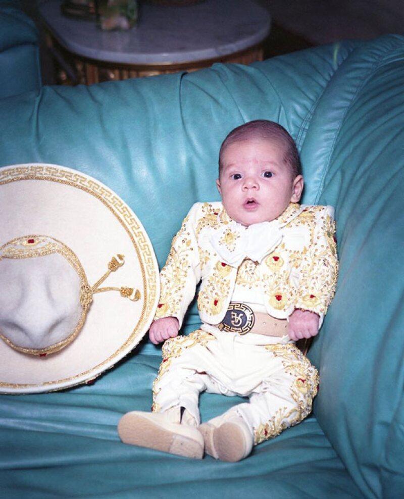 Alex Jr cuando era apenas un bebé.