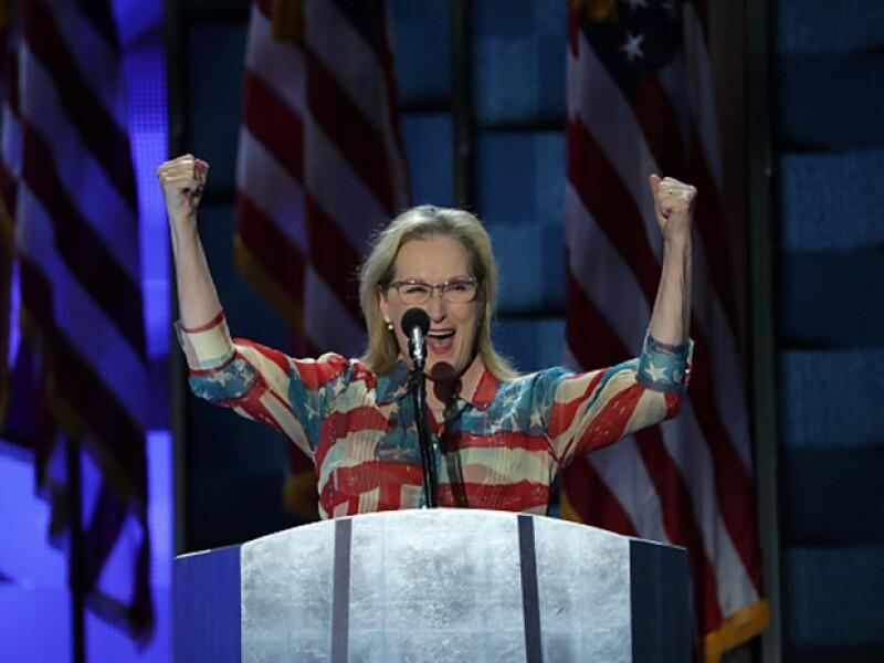 La famosa actríz dio un poderoso discurso en favor de la candidata del partido demócrata