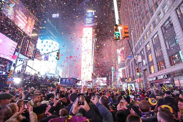 New Year celebrations, New York, USA - 01 Jan 2020