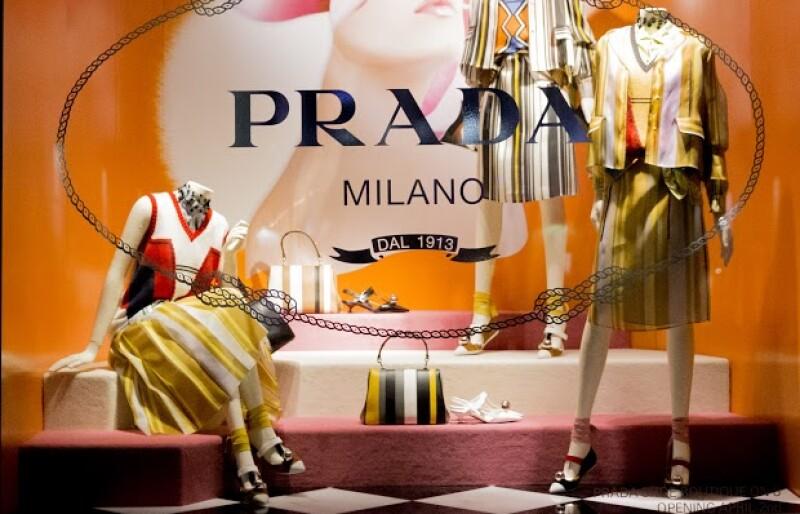 Un collage y mundo de toques multifacéticos de Prada