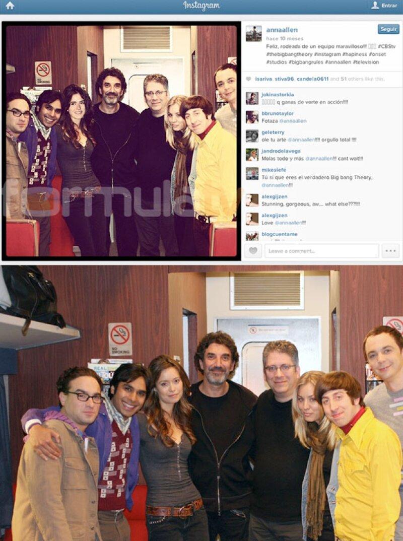 Anna se colocó en la foto del elenco de The Big Bang Theory.
