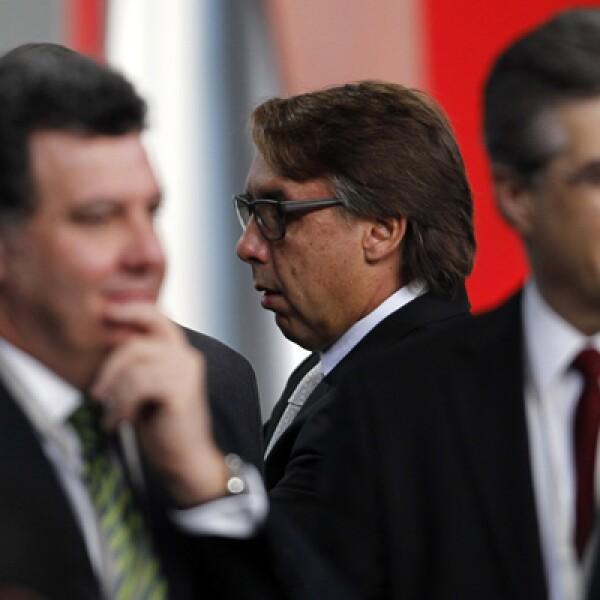 El presidente de Grupo Televisa, Emilio Azcárraga Jean, también estuvo en la ceremonia realizada en Palacio Nacional.