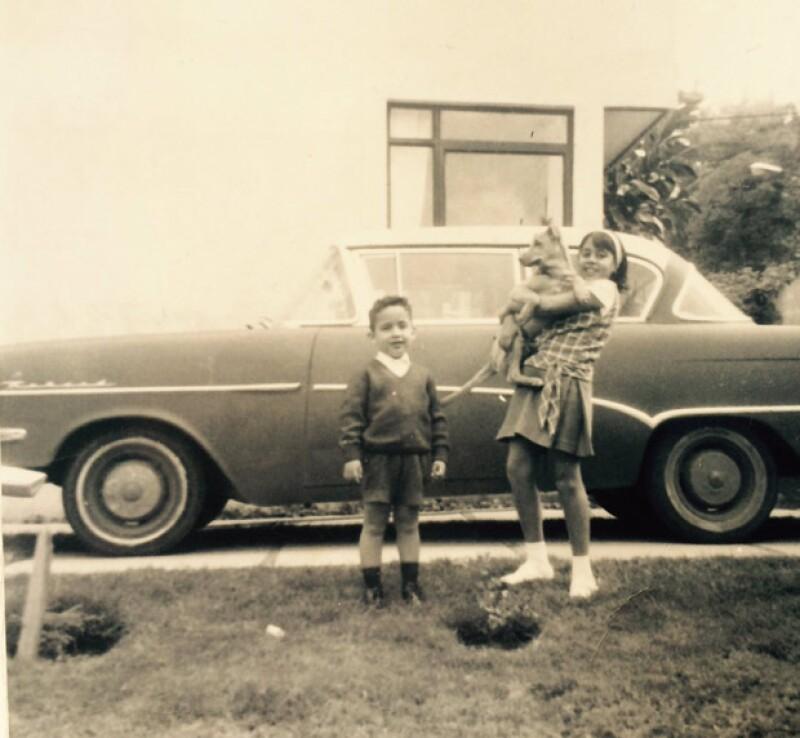 La hermana del ex presidente lo felicitó con esta foto de su infancia.
