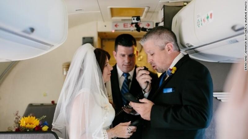 boda en el aire