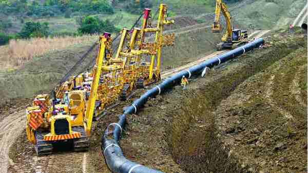 Construcci�n gasoductos