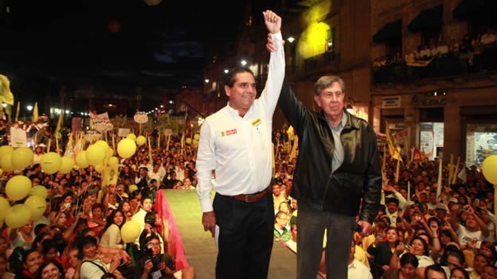 Silvano Aureoles del PRd y Cuuahtémoc Cárdenas