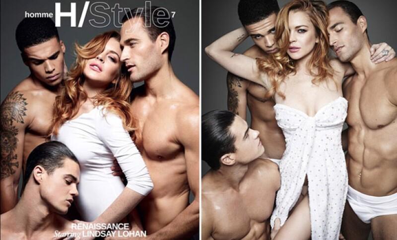 Luego de las constantes críticas sobre su mal uso de Photoshop, la actriz se muestra súper sexy como parte de Homme Style Magazine.