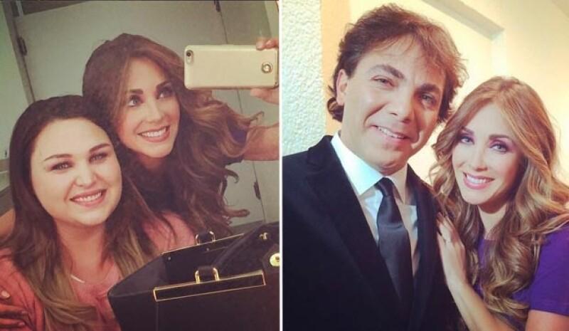 La cantante compartió fotos de sus encuentro en Televisa.