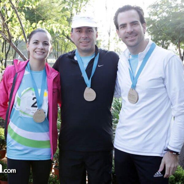 Lucía Franco, Mauricio del Pozo y Miguel Laporta