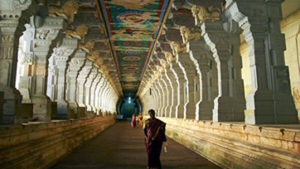El templo de Arulmigu Ramanatha Swami recibe a más de 4 millones de visitantes al año. (Foto: AFP)