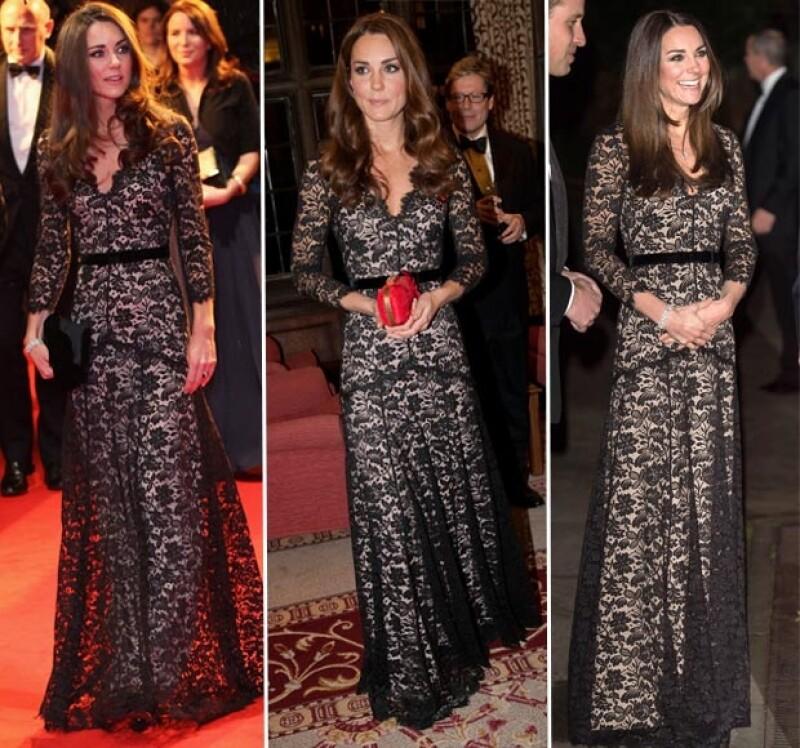 Kate Middleton ha lucido este diseño en tres ocasiones, durante un corto periodo.